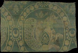 persian senmurv textile silk
