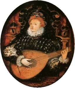 queen elizabeth I lute playing hilliard