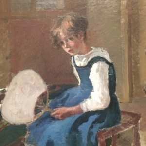 Pissarro Camile Jeanne with a Fan
