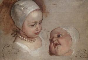 Van Dyck Daughters of Charles I portrait royalty
